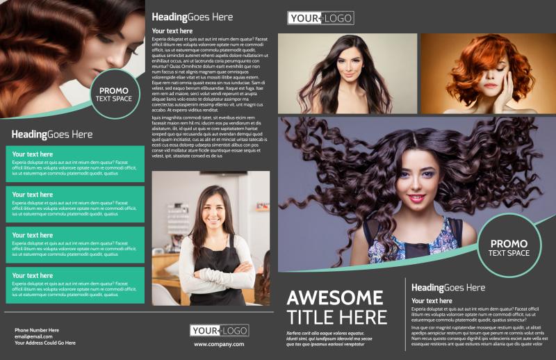 Moxie Hair Salon Brochure Template Preview 2