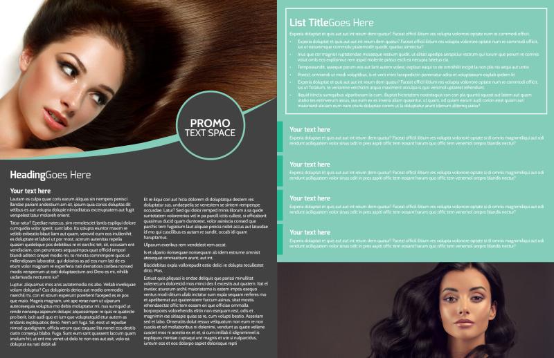 Moxie Hair Salon Brochure Template Preview 3