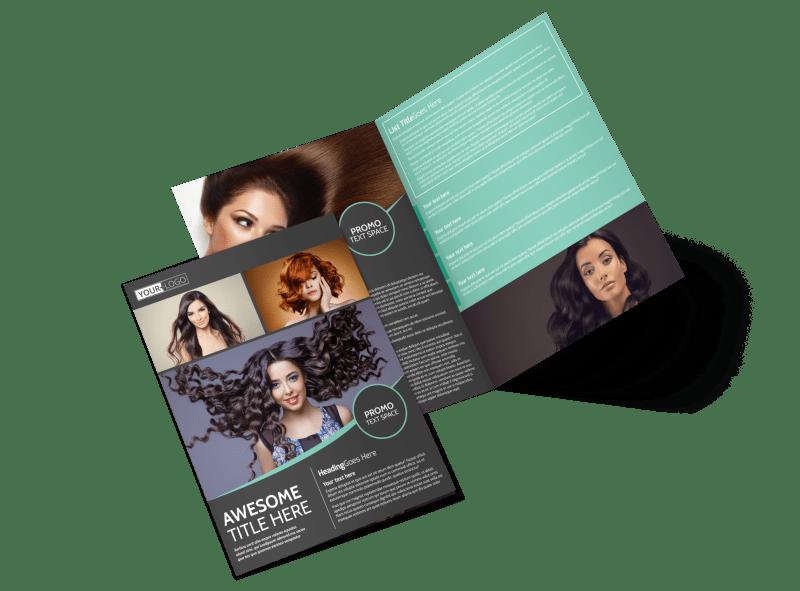 Moxie Hair Salon Brochure Template Preview 1