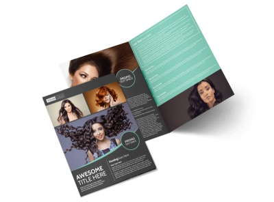 Moxie Hair Salon Bi-Fold Brochure Template