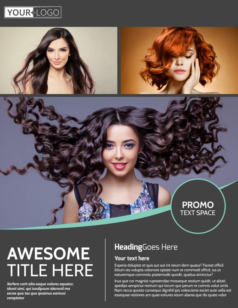 Moxie Hair Salon Flyer Template Preview 2