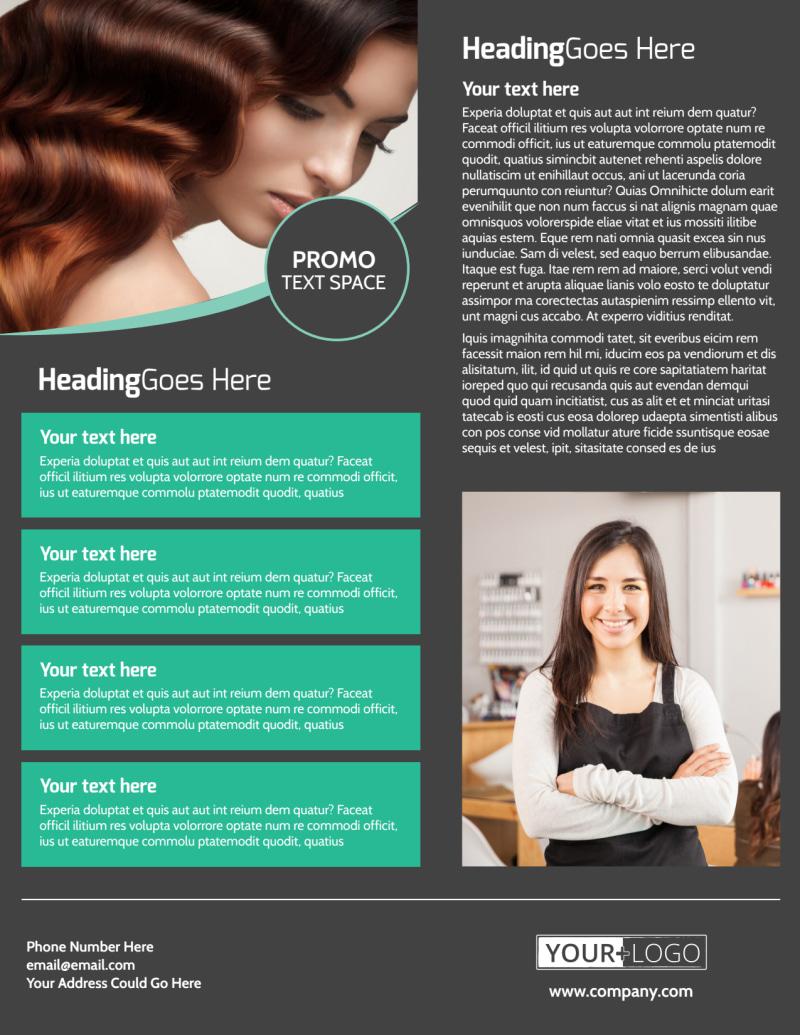 Moxie Hair Salon Flyer Template Preview 3