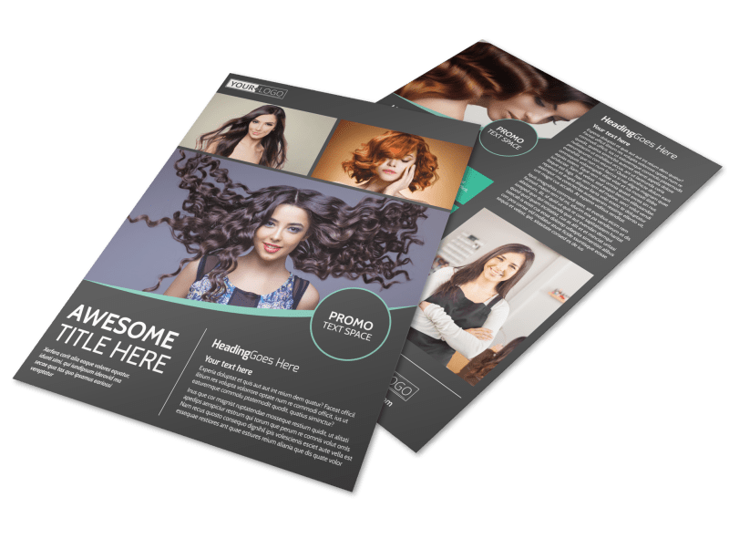 Moxie Hair Salon Flyer Template Preview 1
