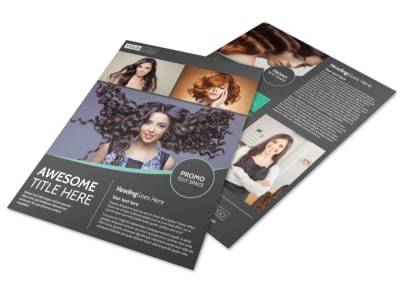 Moxie Hair Salon Flyer Template preview