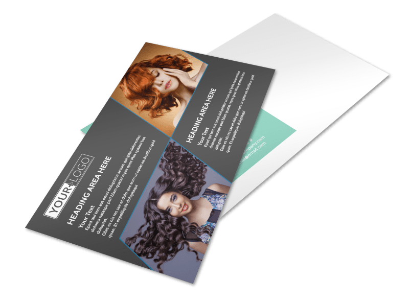 Moxie Hair Salon Postcard Template Preview 1