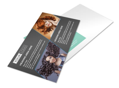 Moxie Hair Salon Postcard Template preview