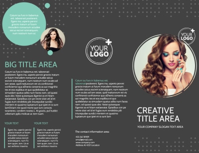 Hair & Makeup Salon Brochure Template Preview 1