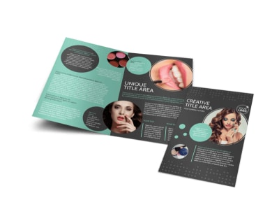 Hair & Makeup Salon Bi-Fold Brochure Template