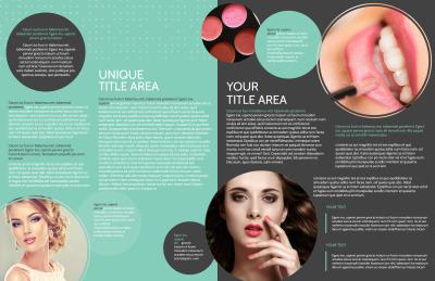 Hair & Makeup Salon Brochure Template Preview 2