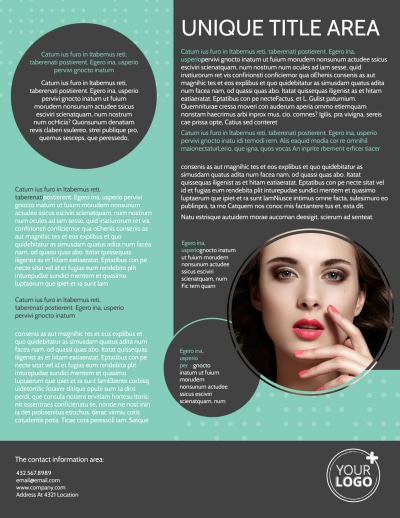 Hair & Makeup Salon Flyer Template Preview 2