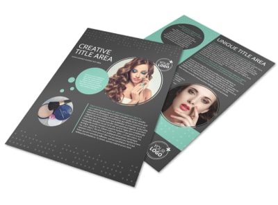 Hair & Makeup Salon Flyer Template preview
