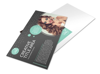 Hair & Makeup Salon Postcard Template preview