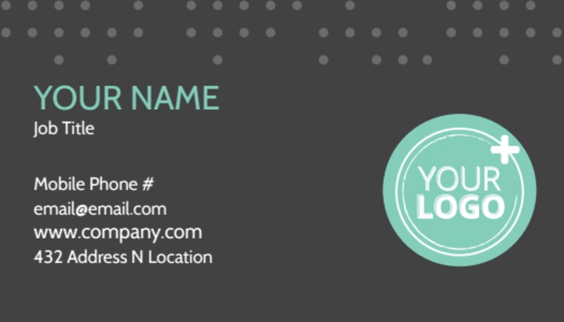 Hair & Makeup Salon Business Card Template Preview 2