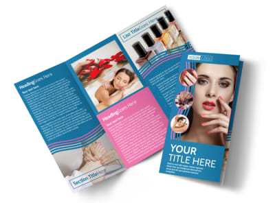 Serenity Nails & Spa Tri-Fold Brochure Template preview