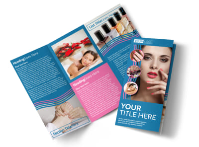 Serenity Nails & Spa Tri-Fold Brochure Template