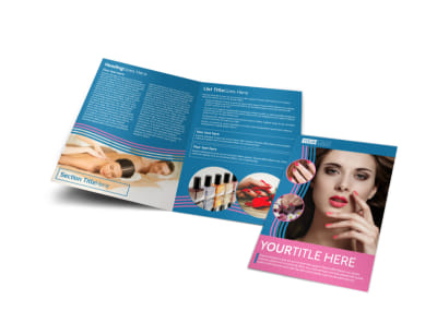 Serenity Nails & Spa Bi-Fold Brochure Template preview