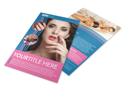 Serenity Nails & Spa Flyer Template preview
