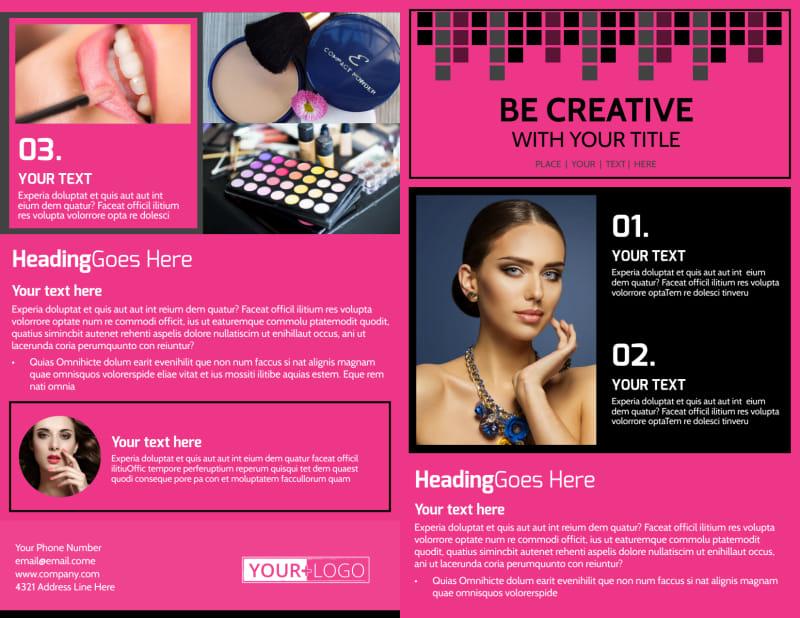 Studio Makeup Artist Brochure Template Preview 2