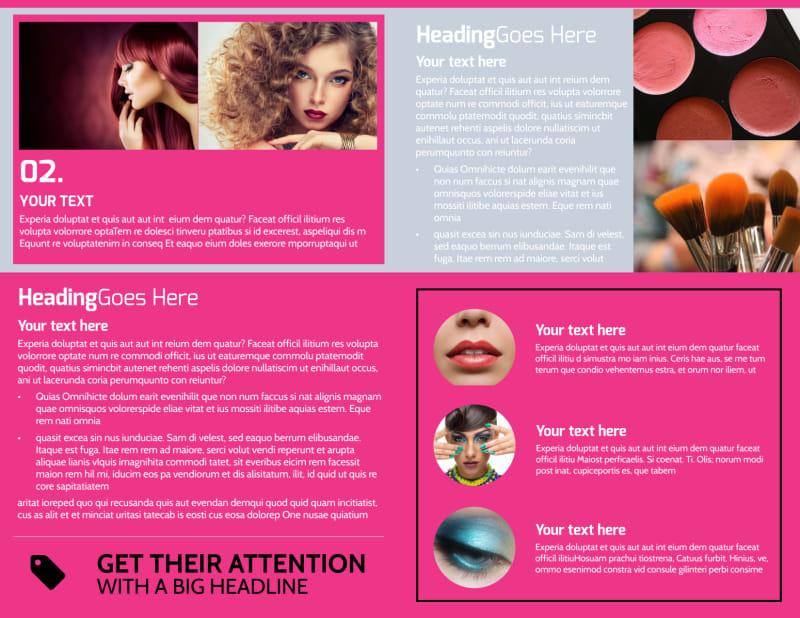 Studio Makeup Artist Brochure Template Preview 3