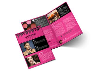 Studio Makeup Artist Bi-Fold Brochure Template preview