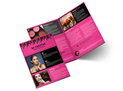 Studio Makeup Artist Bi-Fold Brochure Template preview