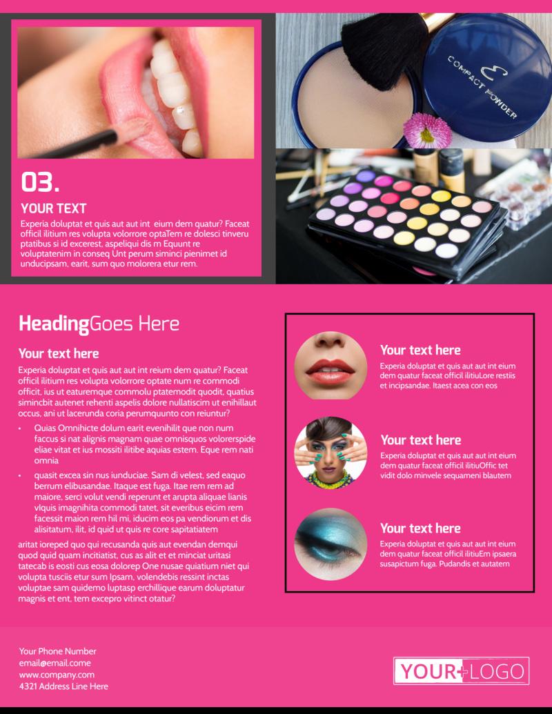 Studio Makeup Artist Flyer Template Preview 3