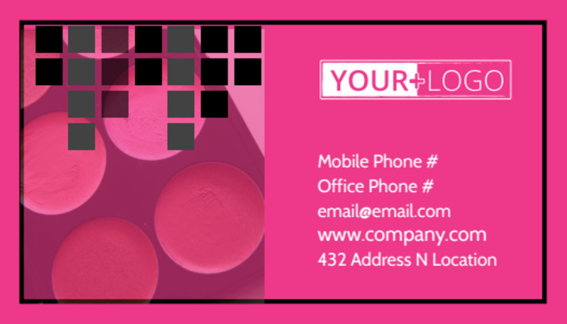 Studio Makeup Artist Business Card Template Preview 2