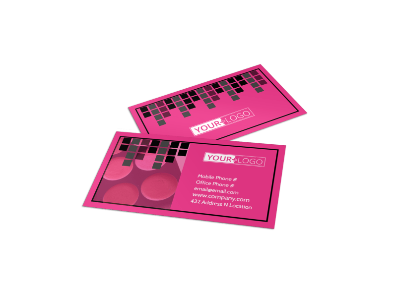 Studio Makeup Artist Business Card Template Preview 1