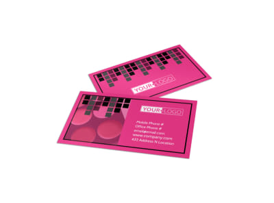 Studio Makeup Artist Business Card Template preview
