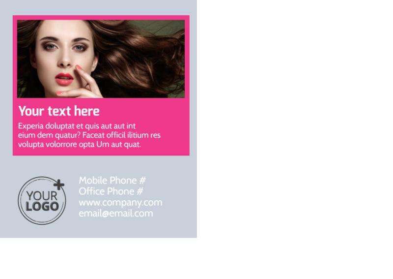Studio Makeup Artist Postcard Template Preview 3
