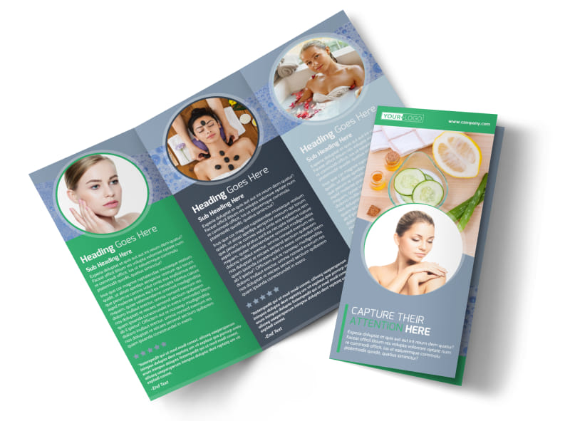 Total Beauty Skin Care Tri-Fold Brochure Template