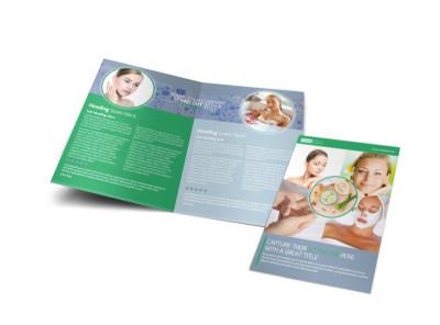 Total Beauty Skin Care Bi-Fold Brochure Template preview
