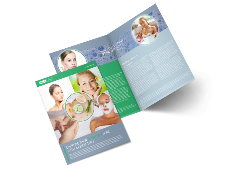 Total Beauty Skin Care Bi-Fold Brochure Template