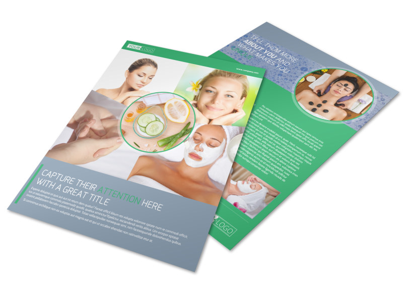 Total Beauty Skin Care Flyer Template
