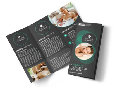 Relaxing Salon & Day Spa Tri-Fold Brochure Template preview