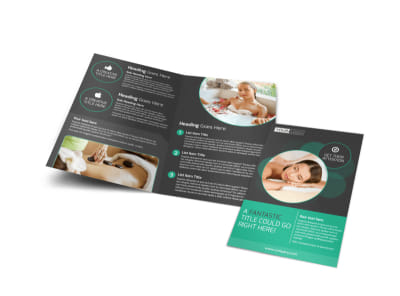 Relaxing Salon & Day Spa Bi-Fold Brochure Template preview