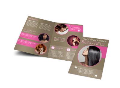 Hair Artists Salon Bi-Fold Brochure Template preview
