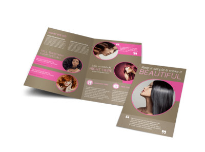 Hair Artists Salon Bi-Fold Brochure Template