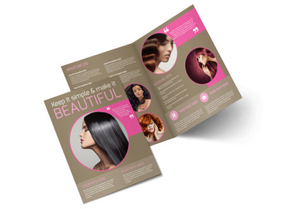 Hair Artists Salon Bi-Fold Brochure Template preview