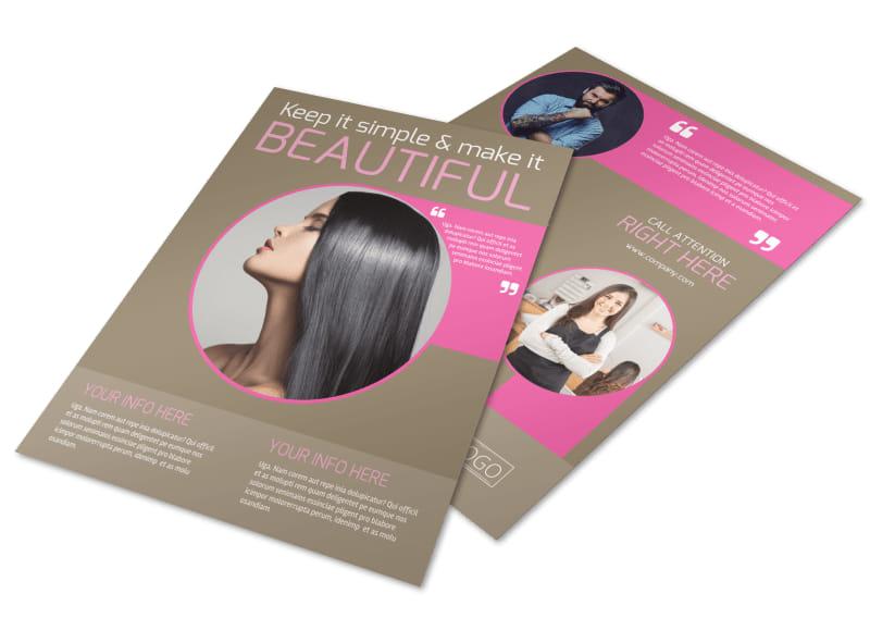 Hair Artists Salon Flyer Template Mycreativeshop