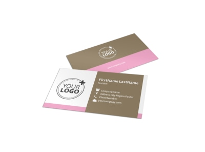 Hair Artists Salon Business Card Template preview