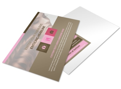 Hair Artists Salon Postcard Template preview
