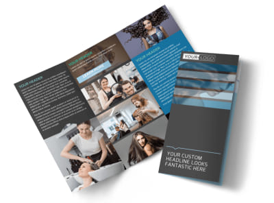 Total Hair Care Tri-Fold Brochure Template preview