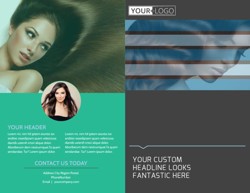 Total Hair Care Brochure Template Preview 2