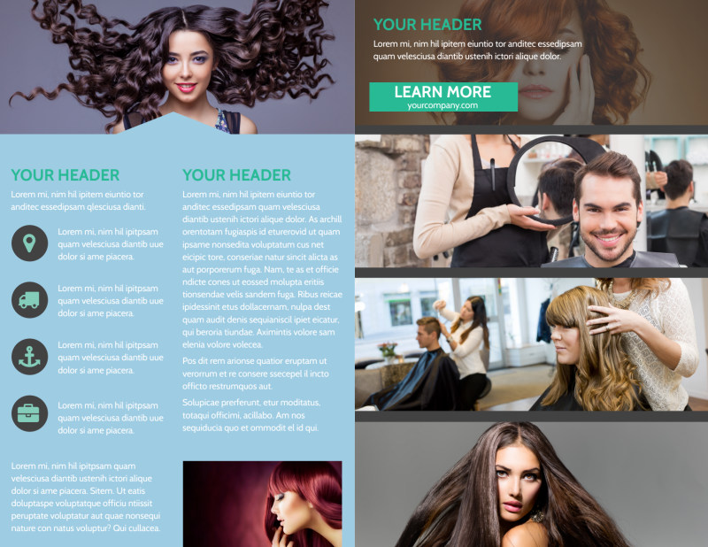 Total Hair Care Brochure Template Preview 3