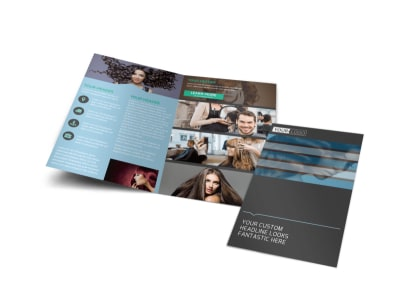 Total Hair Care Bi-Fold Brochure Template preview