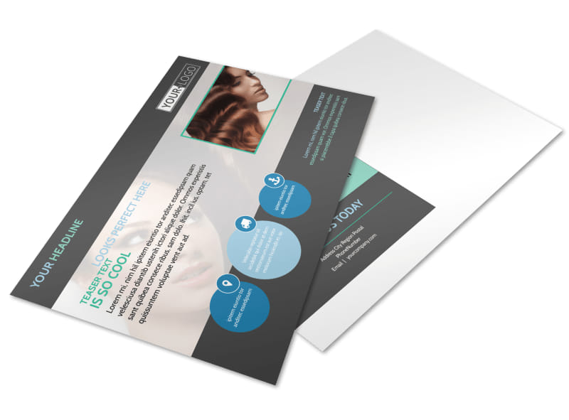 Total Hair Care Postcard Template Preview 4