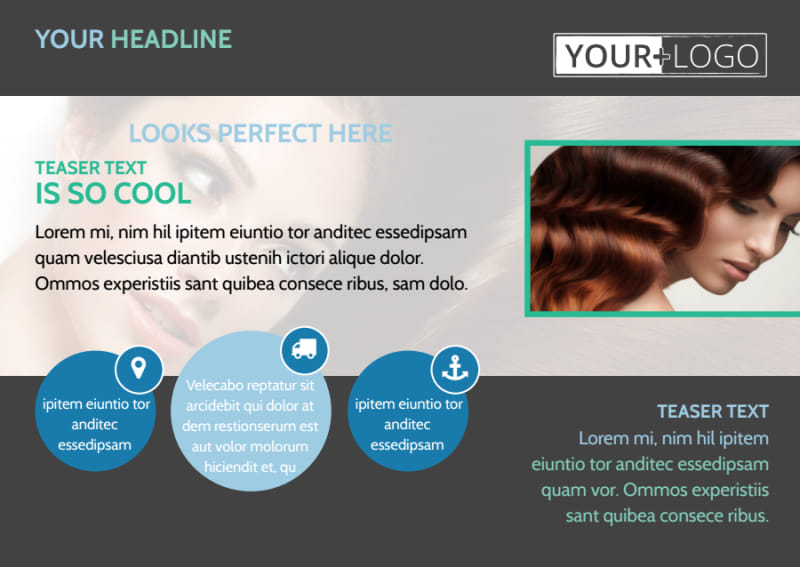 Total Hair Care Postcard Template Preview 2