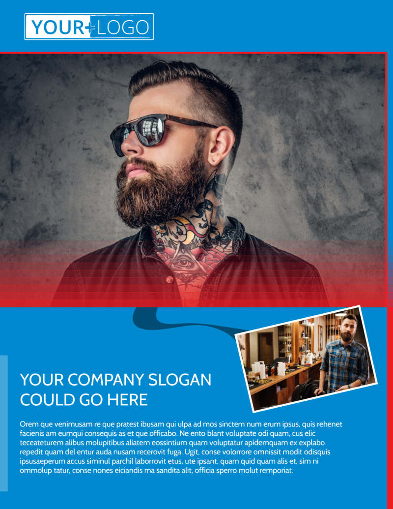 Downtown Barber Shop Flyer Template Preview 2