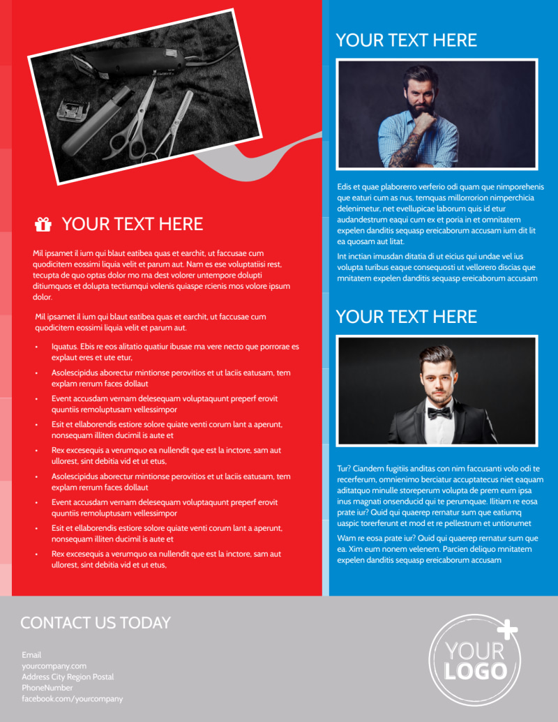 Downtown Barber Shop Flyer Template Preview 3